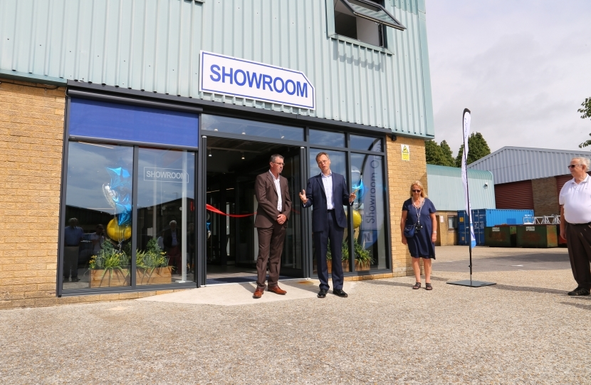 Michael opening a showroom