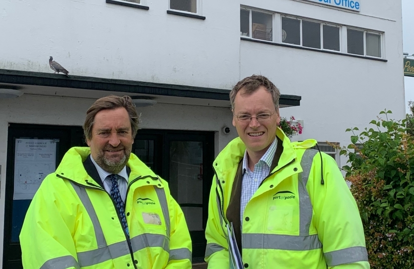 Michael Tomlinson MP visiting the Port of Poole