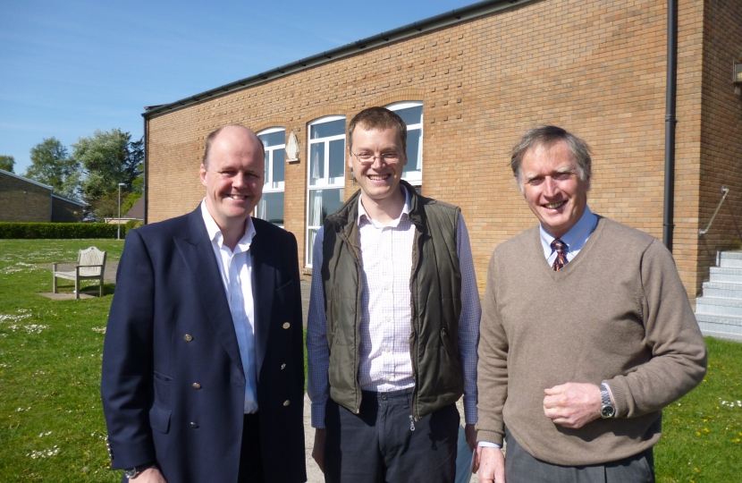 Ashley Fox MEP with Michael Tomlinson and Peter Webb